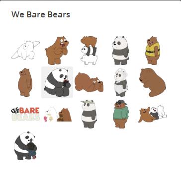 استیکر خرس ها