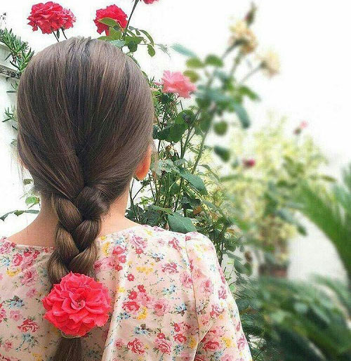 دختر مو بلند پروفایل