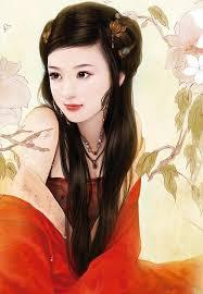 نقاشی دخترانه با قلم