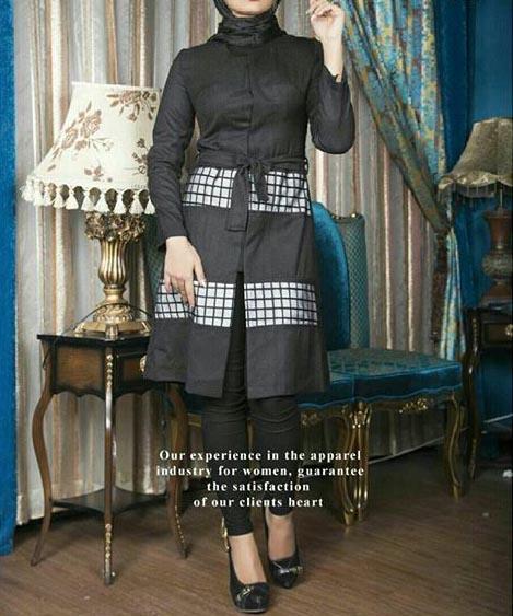 مدل مانتو اسپرت مشکی 97