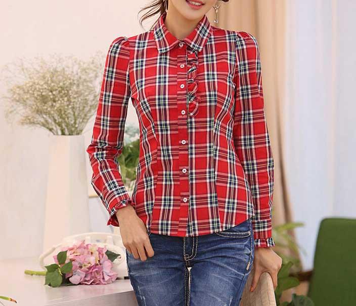 مدل پیراهن چهارخانه دخترانه