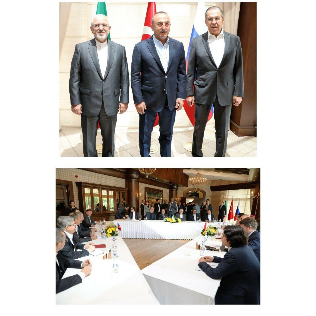 آغاز نشست سه جانبه ایران، ترکیه و روسیه