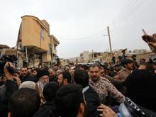 بیانات در جمع مردم شهرستان زلزلهزدهی سرپلذهاب کرمانشاه