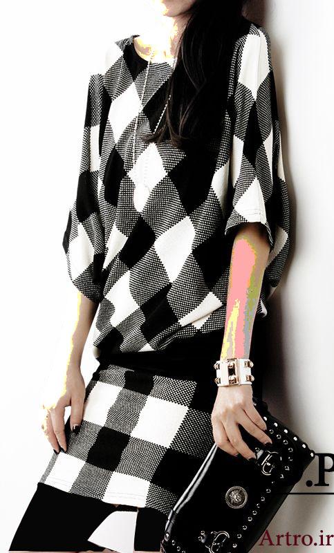 مدل مانتو چهارخانه دخترانه 2018