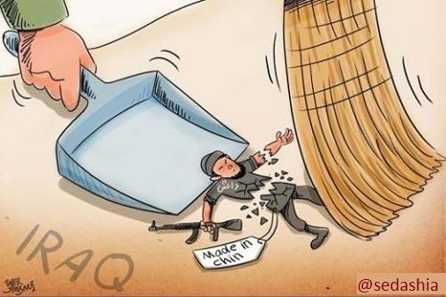 کاریکاتور شکست داعشی ها