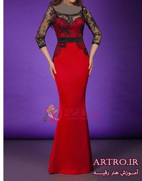 مدل لباس مجلسی بلند شیک97