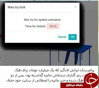 شبکه اجتماعی ای گپ هک شد + به همراه تصویر