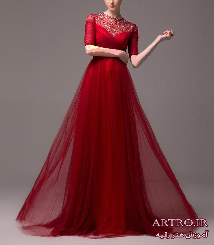 مدل لباس مجلسی زنانه قرمز