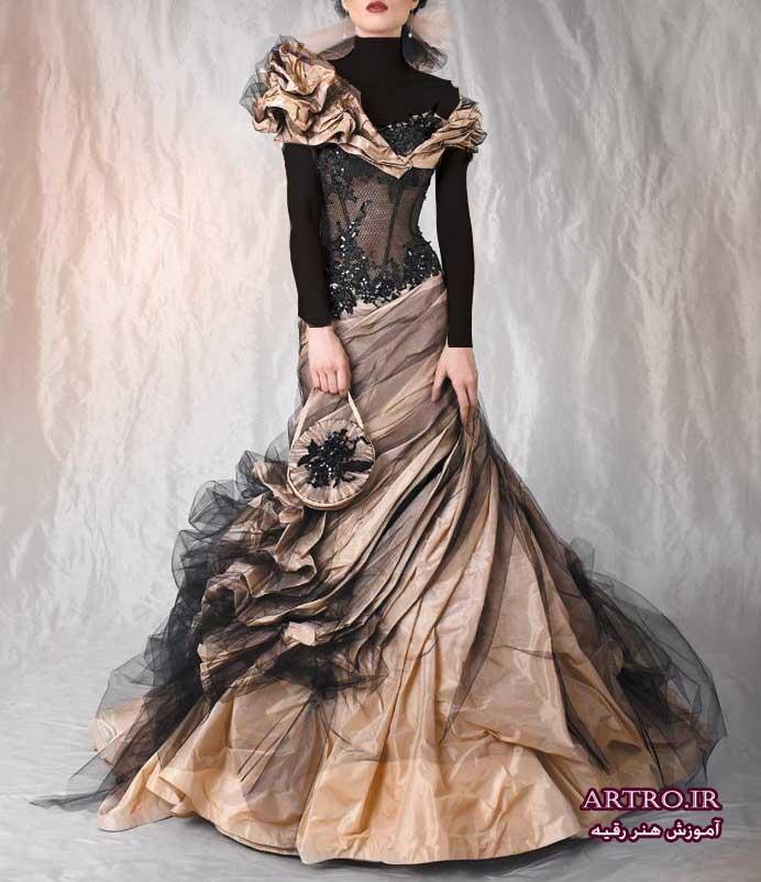 مدل لباس مجلسی زنانه مشکی 2018