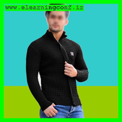 ژاکت لباس سویشرت بافت مشکی مردانه پسرانه