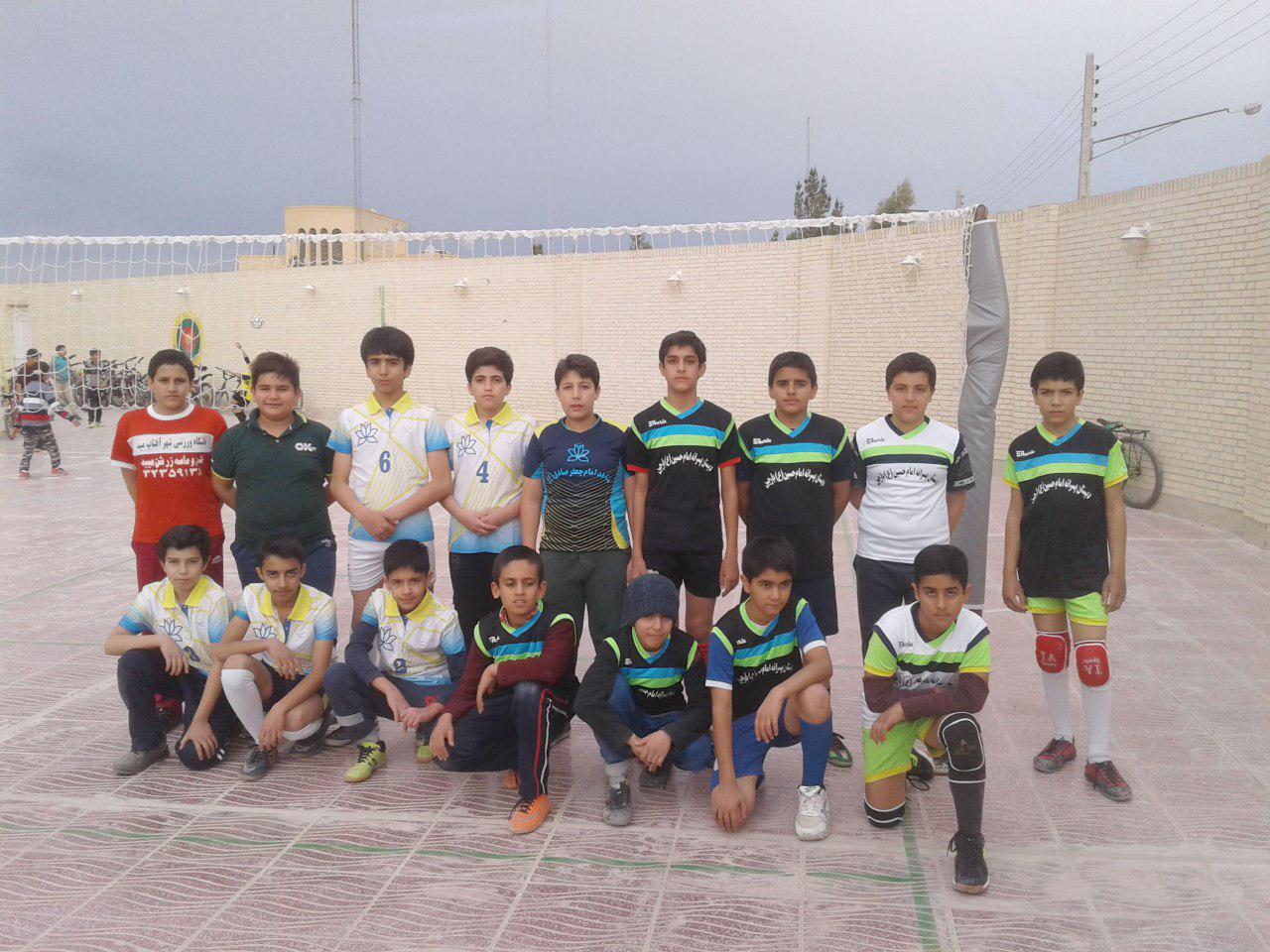 انتخابی تیم والیبال دانش آموزی شهرستان