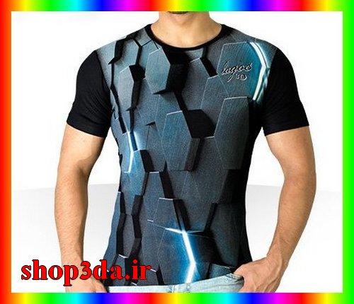 تی شرت جدید سه بعدی اسپرت ارزان بهاری تابستانه فشن