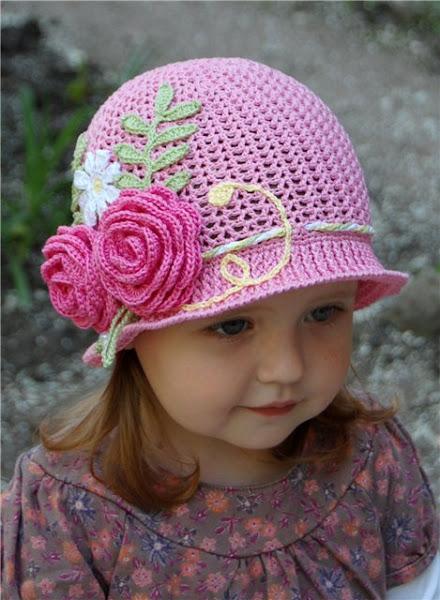 آموزش بافت کلاه دخترانه تصویری