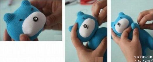 آموزش دوخت عروسک با جوراب