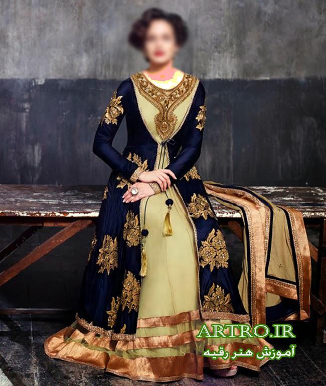 مدل لباس مجلسی شیک زنانه هندی2018