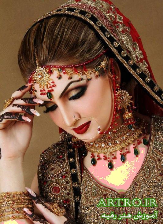 مدل آرایش عروس هندی2018