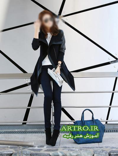 مدل پالتو کوتاه دخترانه کره ای2018