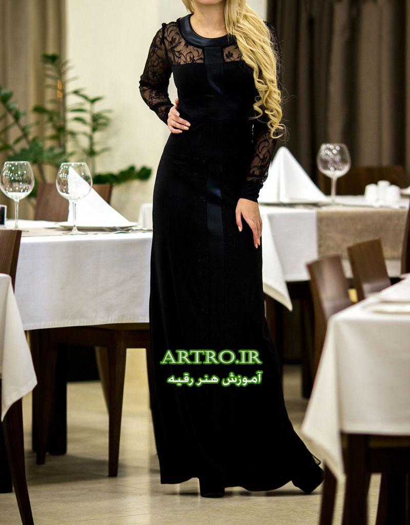 مدل لباس مجلسی زنانه بلند گیپوری2018