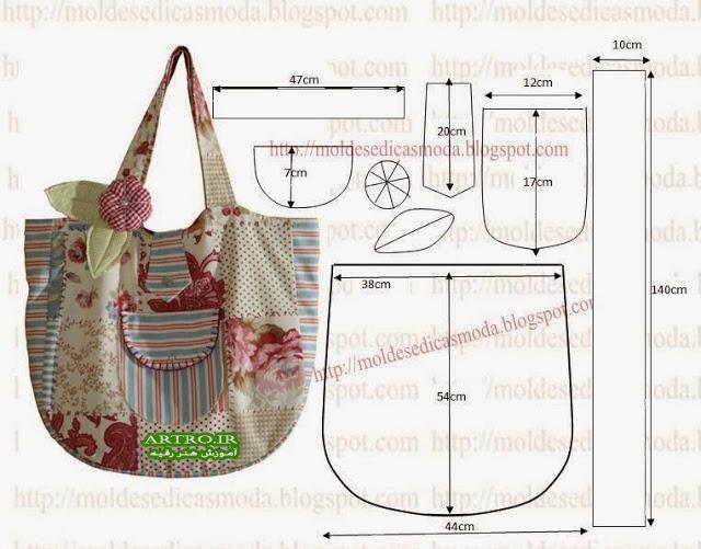 الگو کیف پارچه ای