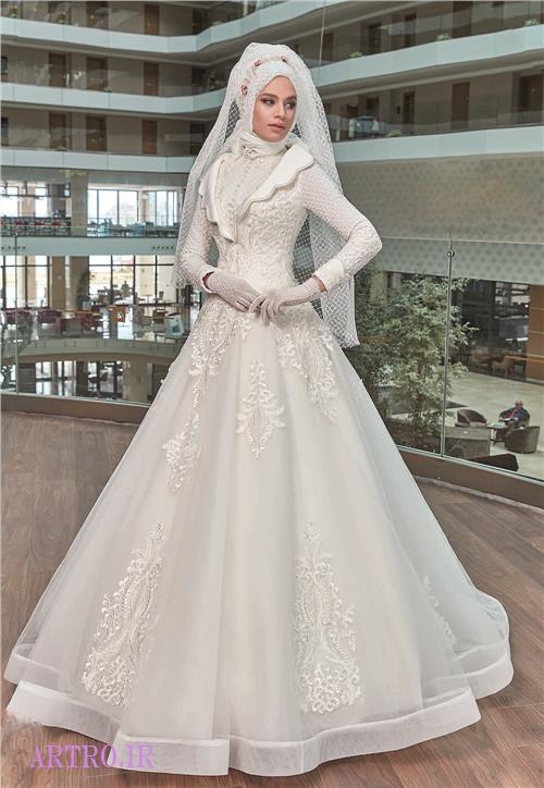 مدل لباس عروس محجبه و پوشیده 2018