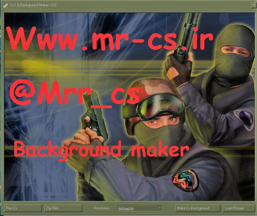 دانلود نرم افزار Background Maker برای Cs 1.6