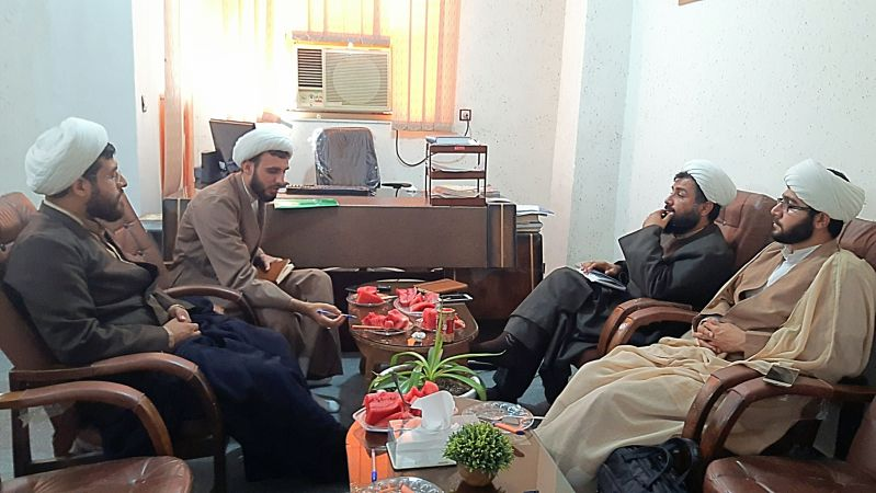 برگزاری جلسه هم اندیشی طلاب گروه جهادی افسران ولایت با رئیس بسیج طلاب استان بوشهر+تصاویر