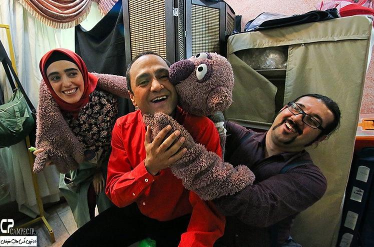 تصاویری از پشت صحنه برنامه خندوانه خرداد 94