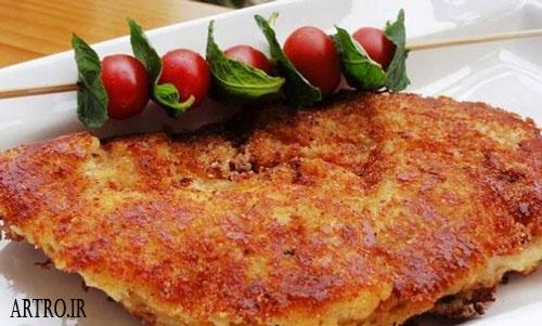 کوکو مرغ گیلانی (چخرتمه بادکوبه ای)+ سس مخصوص