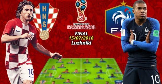دانلود فینال جام جهانی 2018 فرانسه و کرواسی