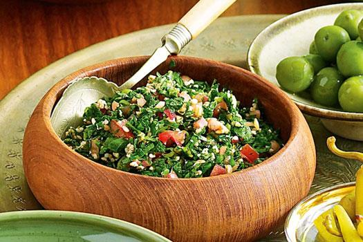 طرز تهیه تبوله لبنانی