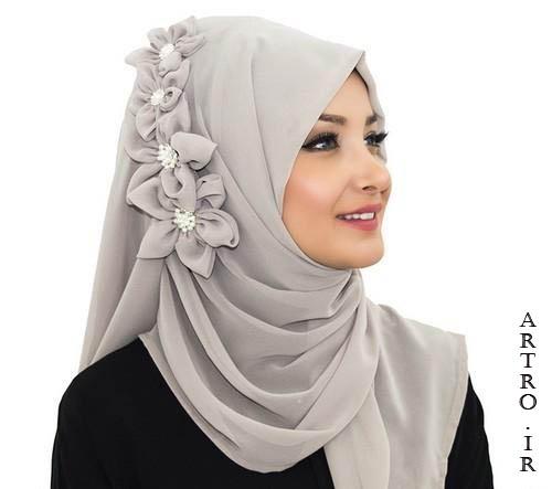 سی مدل روسری مجلسی شیک 2019