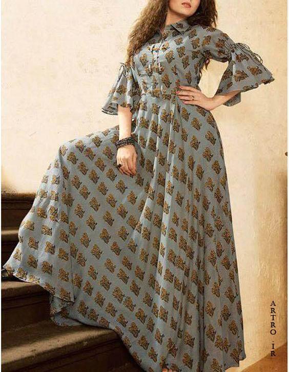 مدل مانتو بلند تابستانه زنانه