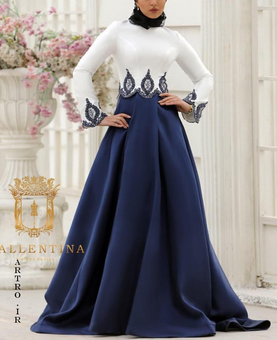 مدل لباس مجلسی بلند پوشیده2018-2019