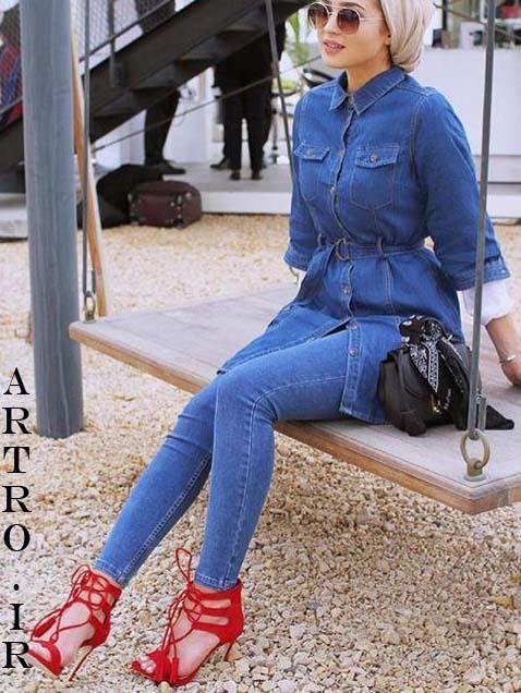 جدیدترین مدل مانتو جین دخترانه 2018-2019