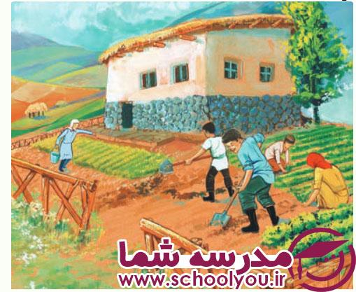 انشا تصویر نویسی درباره روستا و طبیعت صفحه 23 پایه هفتم