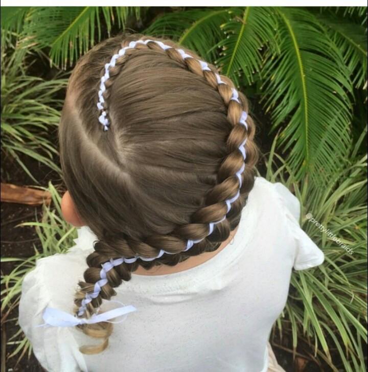 مدل بافت مو برای دختربچه ها