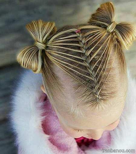مدل بافت موی کوتاه دختر بچه