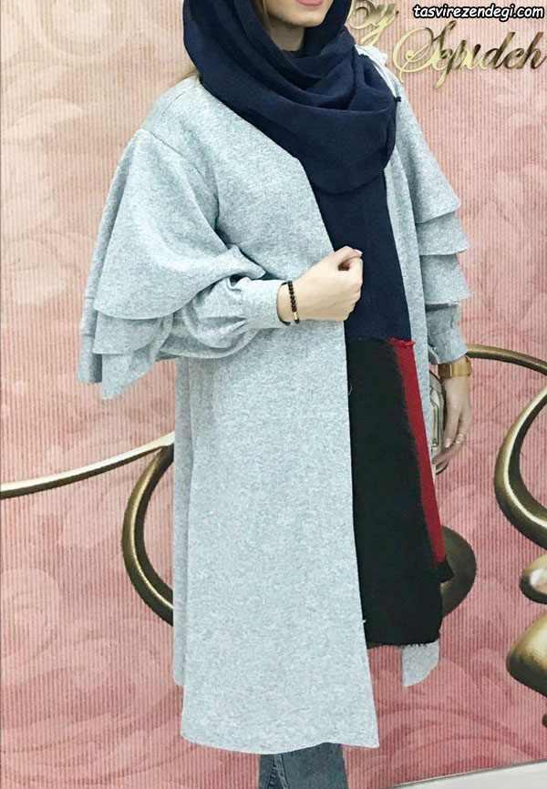 مدل مانتو راحتی زمستانه دخترانه