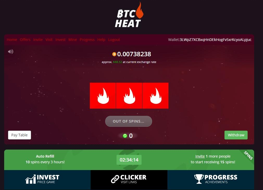 آموزش کسب بیت کوین رایگان زیاد از وبسایت BTC Heat