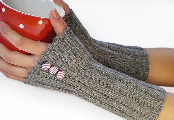 مدل دستکش و ساق بافتنی دخترانه 3