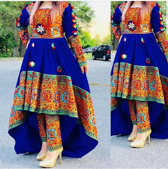 مدل لباس زنانه افغانی1