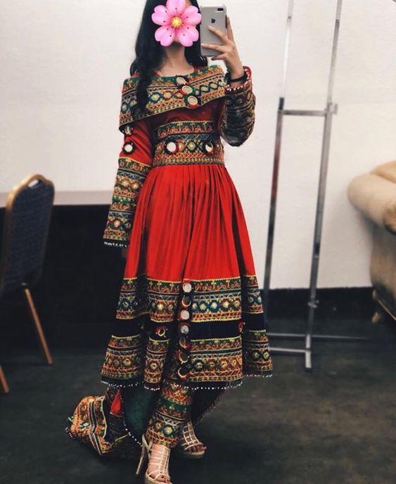 مدل لباس افغانی زنانه جدید 4