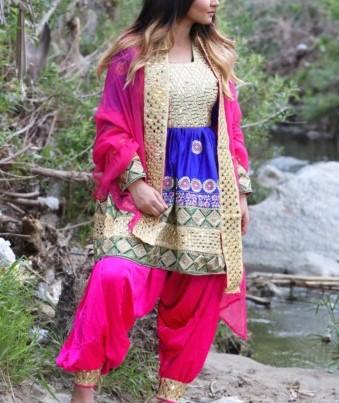 مدل لباس زنانه افغانی9