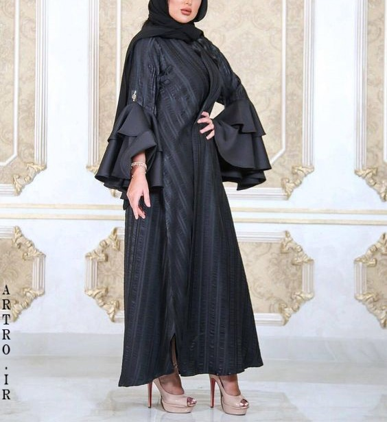 مدل مانتو عبایی شیک 2019