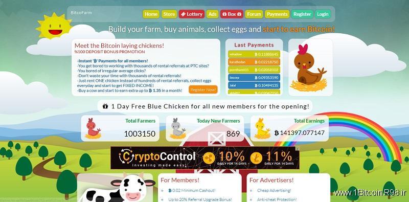 آموزش تبلیغات با مشاهده تبلیغ دیگران از وبسایت BitcoFarm