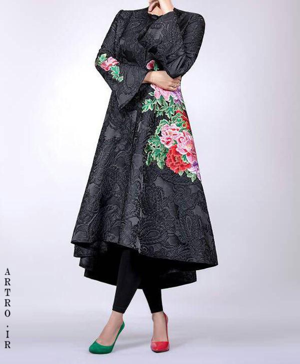 مدل مانتو زنانه دخترانه گلدوزی