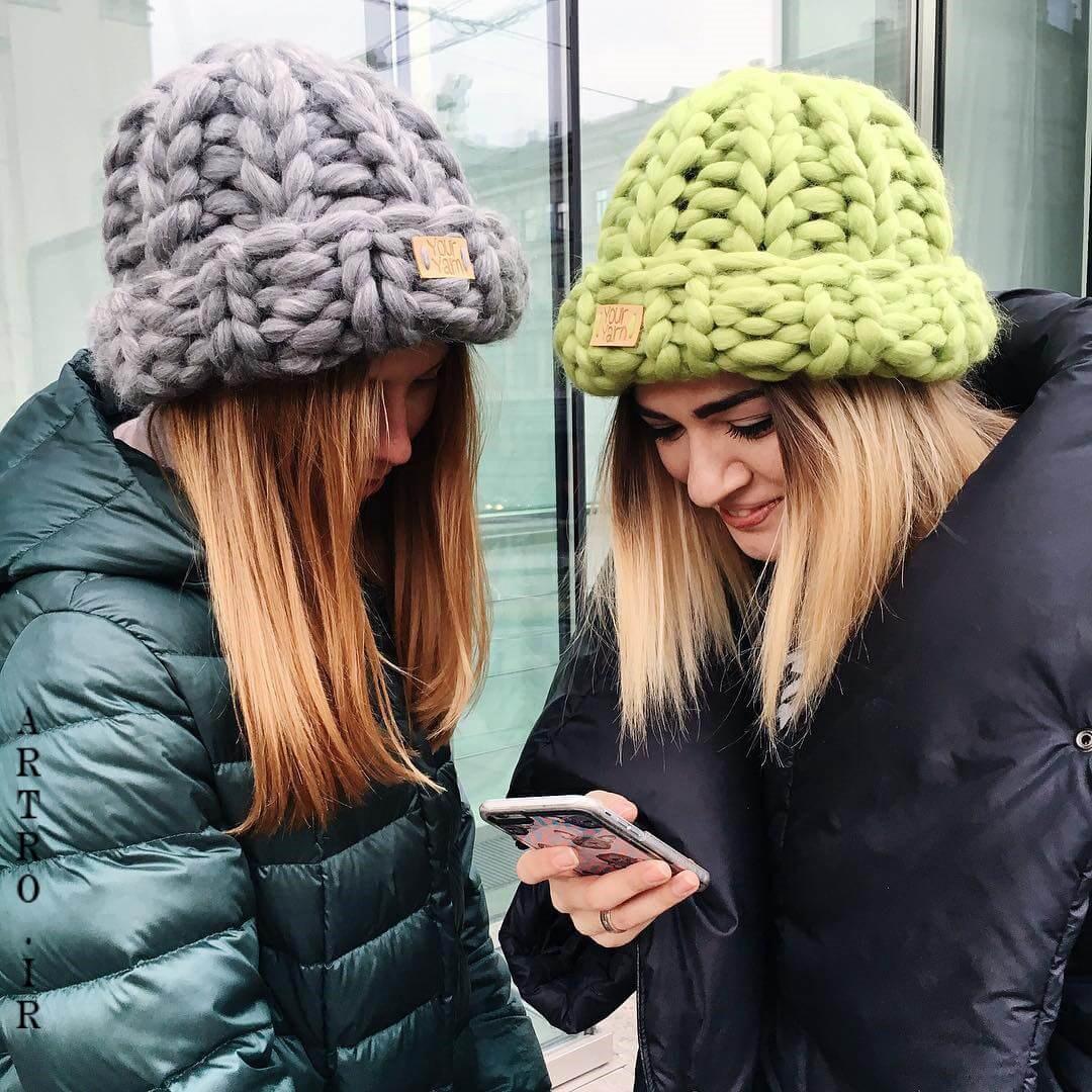 مدل شال و کلاه بافتنی اسپرت