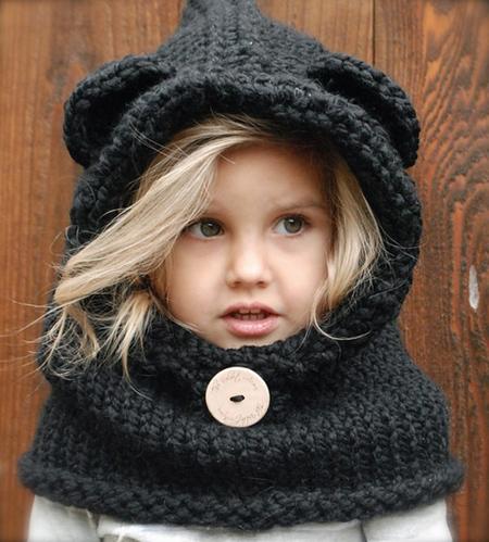 مدل شال و کلاه بافتنی بچه گانه2