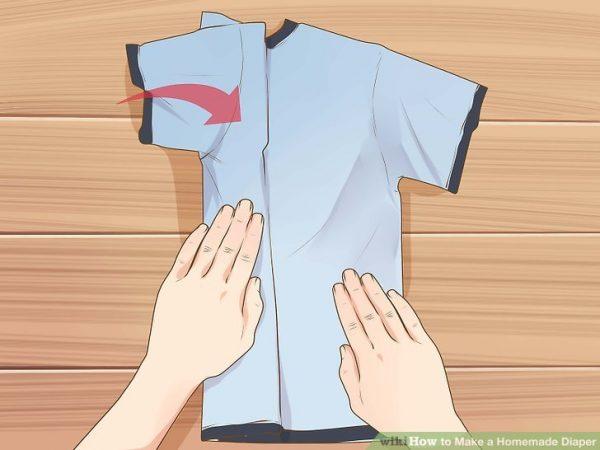 آموزش دوختن پوشک بچه با تیشرت