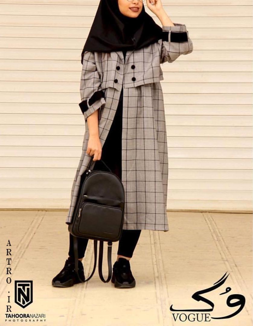 مدل پالتو چهارخونه دخترانه